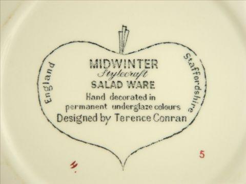 ミッドウィンター サラダウェア プレート